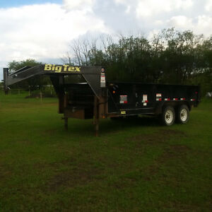 Looking to Sell 2014 16' Big Tex Goose Neck Dump Trailer