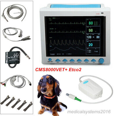 Vet Veterinary Patient Monitor Vital Signs 7 Parameters Pet Monitoretco2 Contec