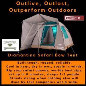 Diamantina Safari Bow Canvas Tent - FREE FREIGHT*