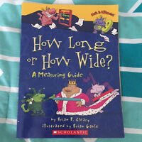 """""""How Long or How Wide, a Measuring Guide"""" children's book for $3"""
