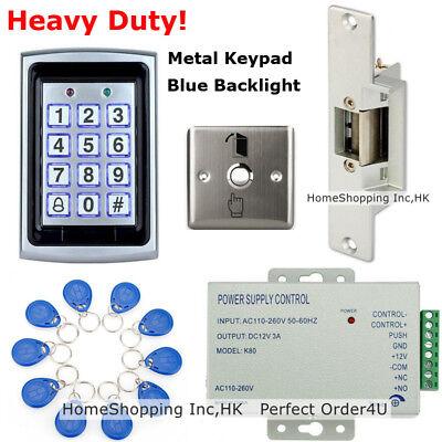 Metal RFID Card & Password Door Access Control System+Electric Strike Lock