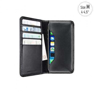 Artwizz Leder Wallet Etui Tasche Case SchutzHülle Schwarz für Apple iPhone 5C ()