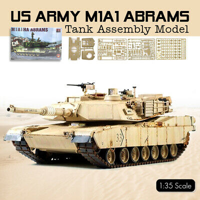 1:35 Scale US Army M1A1 Abrams Main Battle Tank Model Assemble Full Interior Kit M1a1 Abrams Main Battle Tank