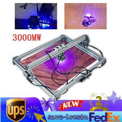 3000mw Laser Engraving Engraver Carving Machine Logo Printer Diy Kit 50x65cm