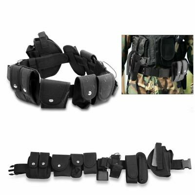 Tactical Police Duty Utility Belt Officer Security Guard Gear Law Enforcement