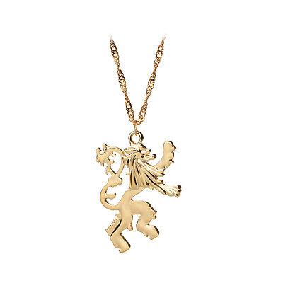 Game Of Thrones Necklace Vintage Cersei Lannister Hourse Gold Lion Badge Pendant