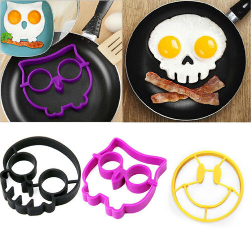 Silicone Smile Skull Owl Egg Fried Mould ...