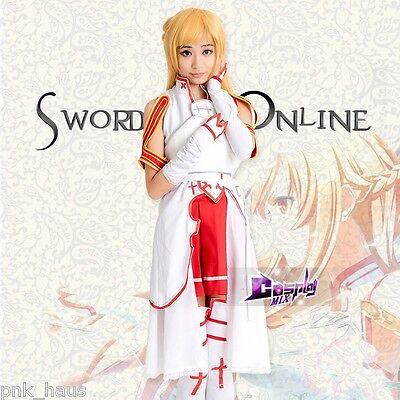 Mode Frauen Mischfarben Sword Art Online Asuna Yuuki Full Set Cosplay Kleid - Yuuki Cosplay Kostüm