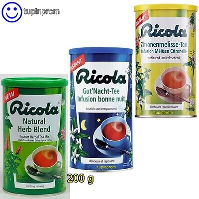 Ricola Good Night,Lemon Mint,Herb Tea Instant Botanical Refreshing Soothing 200g Ricola Herb Tea