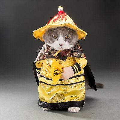 Dog Pets Dog Cat Clothes Fancy Costumes China Emperor Dragon Apparel Clothes - Hot Dog Cat Kostüm
