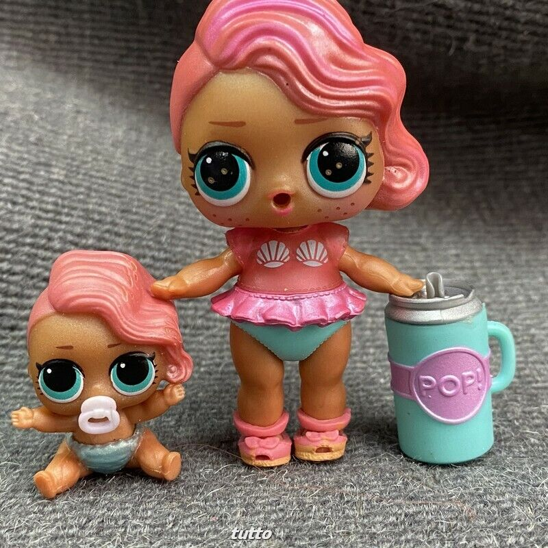 LOL Surprise Treasure Doll Pink /& Teal Outfit Pink Sandal Shoes Toys Gifts