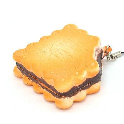 1PZ Squishy Me Mangiare Biscuit Panino Cellulare Pane Profumato Crocchia Cinghie