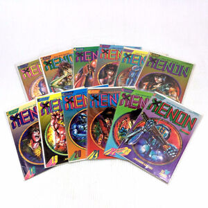 12 Heavy Metal Warrior Xenon Comic Books 12-23 Eclipse Viz 1988