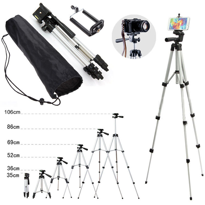 Camera Tripod Mount Stand Holder with Ball Head +Bag For iPo