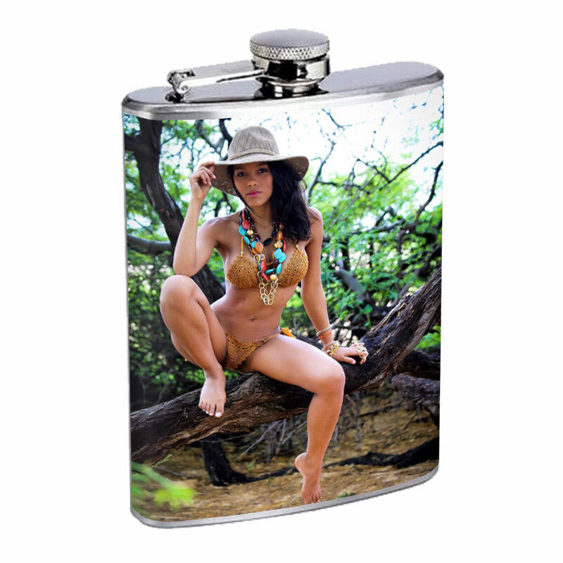 Indiana Pin Up Girls D1 Flask 8oz Stainless Steel Hip Drinki