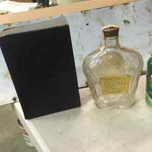 1955 Seagram's Crown Royal Whiskey Bottle and Box Regina Regina Area image 3