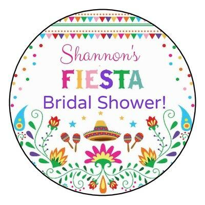 Cinco De Mayo Party Favors (12 Fiesta Bridal Shower Stickers wedding anniversary cinco de mayo favors)