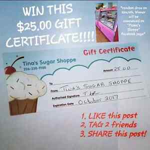 Contest on Mama's Shoppe on Facebook! Clifford, Ontario