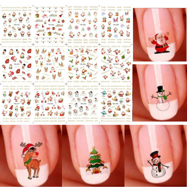 Cute 12 sheet christmas 3d nail art stickers snowflakes snowmen 12 sheet christmas 3d nail art stickers snowflakes cute snowmen nail decals fw prinsesfo Image collections