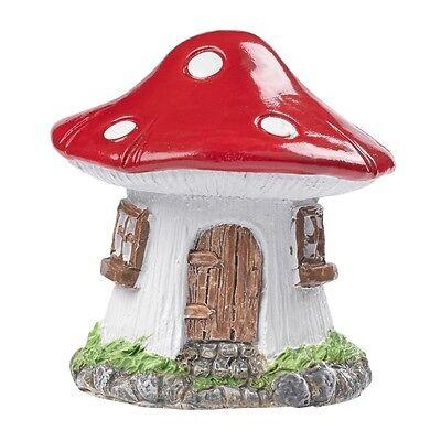 Polyresin Streudeko Deko Miniatur Minigarten Feenhaus Wichtelhaus Pilz Haus