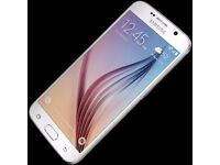 WHITE SSMSUNG S6 ON 02 WITH CHARGER PRICE 170