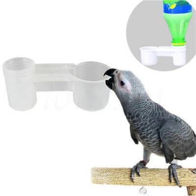 2pcs Plastic Pet Bird Drinker Feeder Water Bottle Cup For Chicken Pigeon Parrot