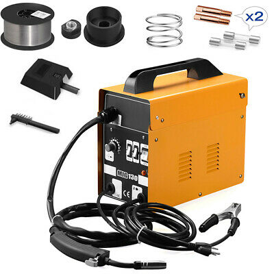 Mig 130 110v Welder Gas Less Flux Core Wire Automatic Feed Welding Machine Us