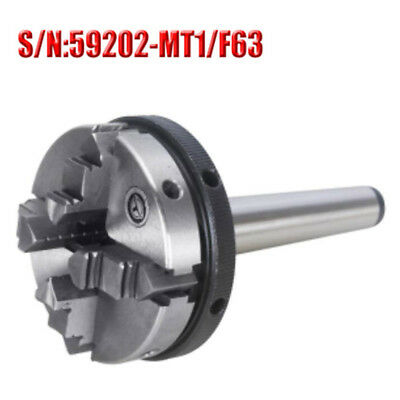 Mt1 4 Jaw Mini Lathe Chuck 63mm Diameter Self Centering With Mt-1 Shank For Cnc
