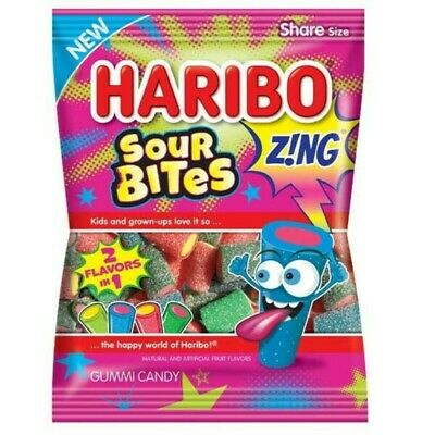 Haribo Sour Bites Zing Gummi Candy 127g X 6 Bags