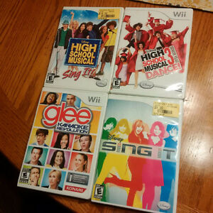 High School Musical, Glee and Disney Sing It Wii Games