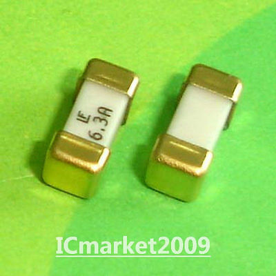 10 Pcs 6.3a 1808 Littelfuse Fast Acting Smd Fuse 6.3 Ampere Surface Mount Fuses