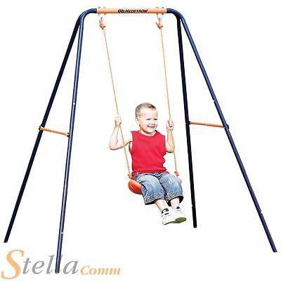 Hedstrom Childrens Single Garden Swing High Tensile Powder Coated Steel Frame