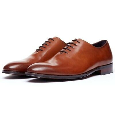 Classic BROWN LEATHER Wholecut lace up oxford dress shoe NEW size 11 - -