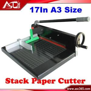 Heavy Duty Manual Ream Guillotine Stack Paper Cutters 026411