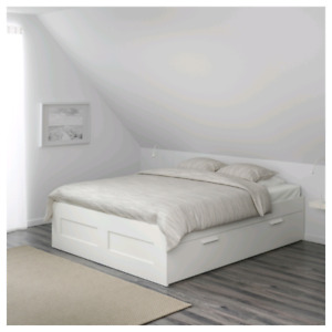 IKEA BRIMNES Double Bed Frame White $200