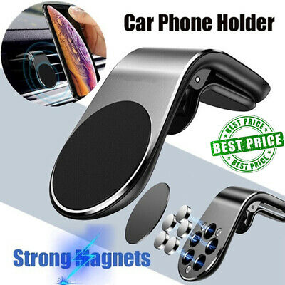 Magnetic In Car Phone Holder Stand Air Vent Mount For iPhone Samsung GPS UK AN Car Mount Air Vent Gps
