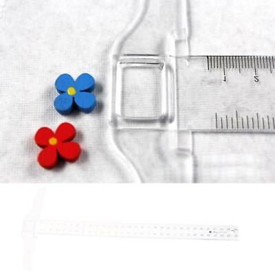 QINREN 30Cm//12 Plastic T-Square Metric Ruler cm//Inch Double Side Scale Measuring Tool,Clear,Plastic