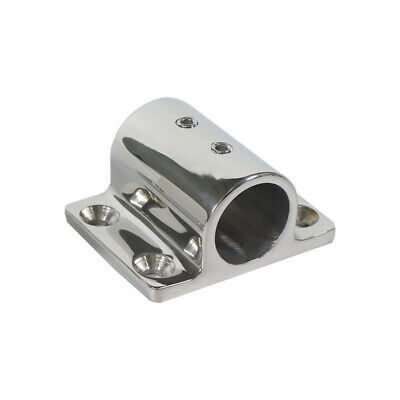 """Boat Hand Rail Fitting Stainless Steel 90 Degree 7/8"""" Stanchion Rectangle Base"""