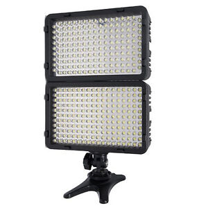 168 LED DSLR Dimmable On-Camera Bi-Color Camcorder Video Lighting Light Panel