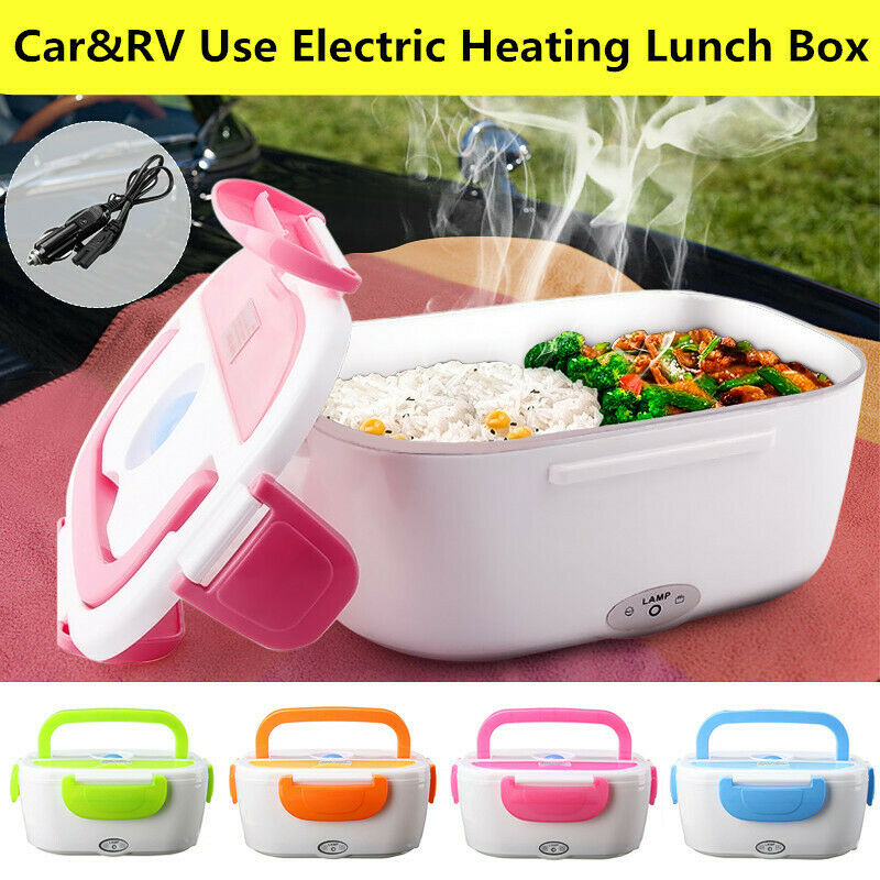12V Portable Electric Heated Heating Lunch Box Bento For Car