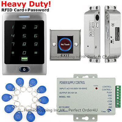 US Waterproof RFID Card+Password Door Access Control System+Door Drop Bolt Lock