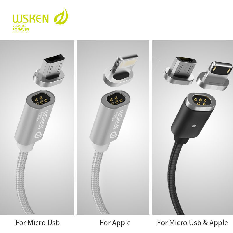 WSKEN Mini2 Magnetic Lightning Micro USB / Type-C Charge Cab