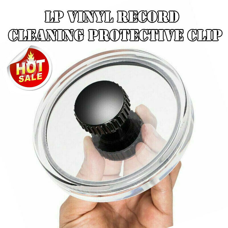 Label Saver Cleaner LP Vinyl Record Cleaning Protective Clip Player Accessories