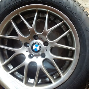 2 sets Snow tires (8 wheels + 8 rims) used and almost 95% new