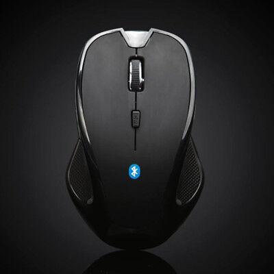 Wireless Mini Bluetooth 6D Funkmaus 1600DPI Optisch Gaming Mouse PC Laptop Black