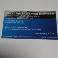 FINAL DRAFT WRITING SERVICES