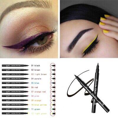 12Colors Eyeliner Long lasting Waterproof Liquid Comestics Eye Liner Pencil Pen