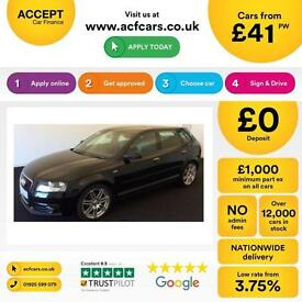 Audi A3 2.0TDI ( 140ps ) Sportback 2012MY S Line FROM £41 PER WEEK !