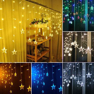 US 3.5M 96LED Star Lights Xmas Shaped Fairy String  Wedding Christmas Decor (Star String Lights)