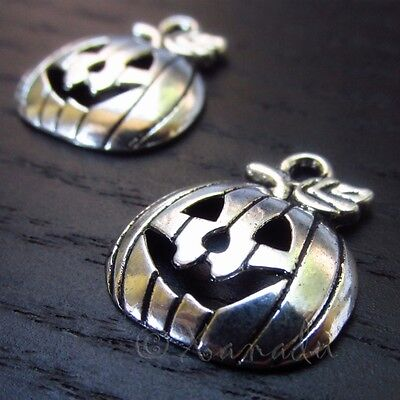 Halloween Pumpkin Jack O Lantern Wholesale Charms C3146 - 10, 20 Or 50PCs - Halloween Charms Wholesale